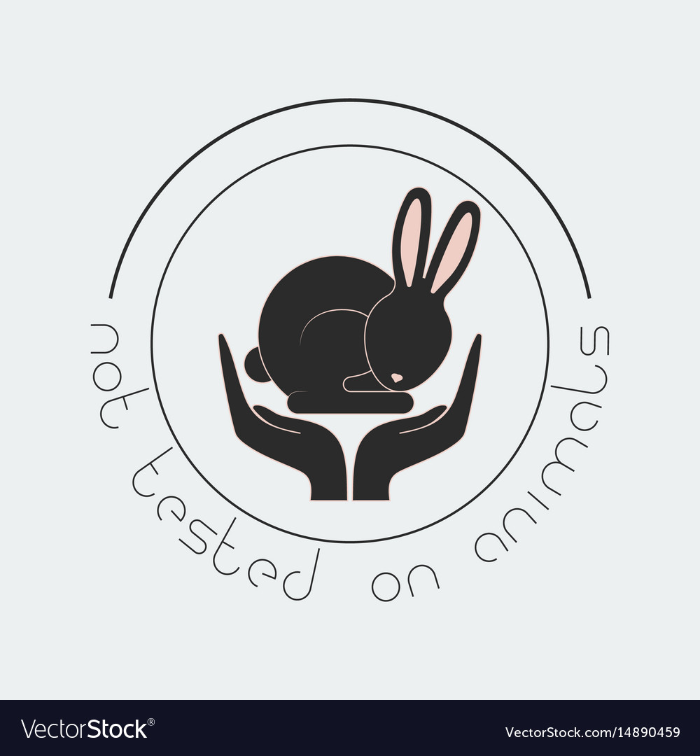 Animal cruelty free logo not tested on animals vector image biocorpaavc Gallery