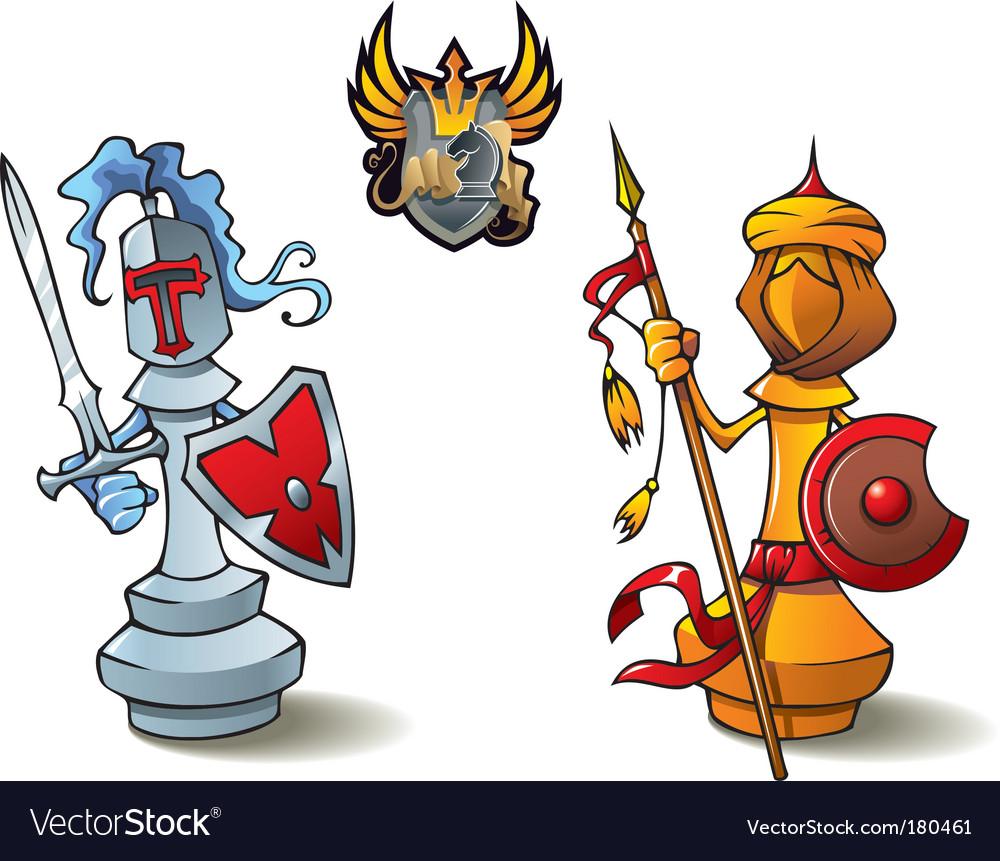 Chess set bishops vector image
