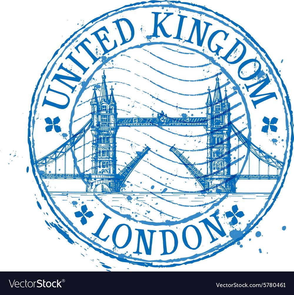 united kingdom logo design template stamp vector image