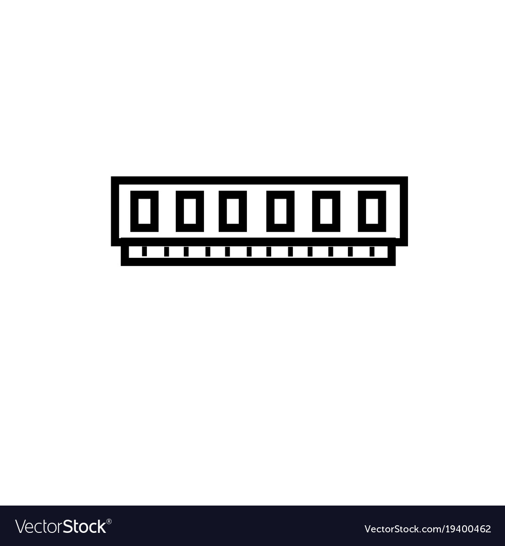 Virtual memory ram icon vector image