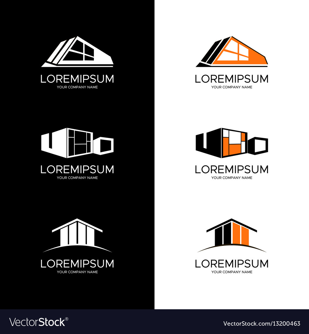 Logo for building company vector image