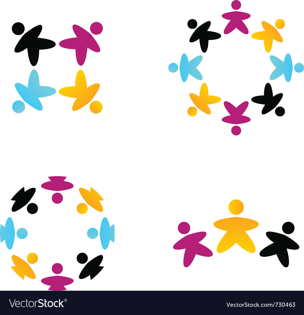 Multicultural business teams vector image