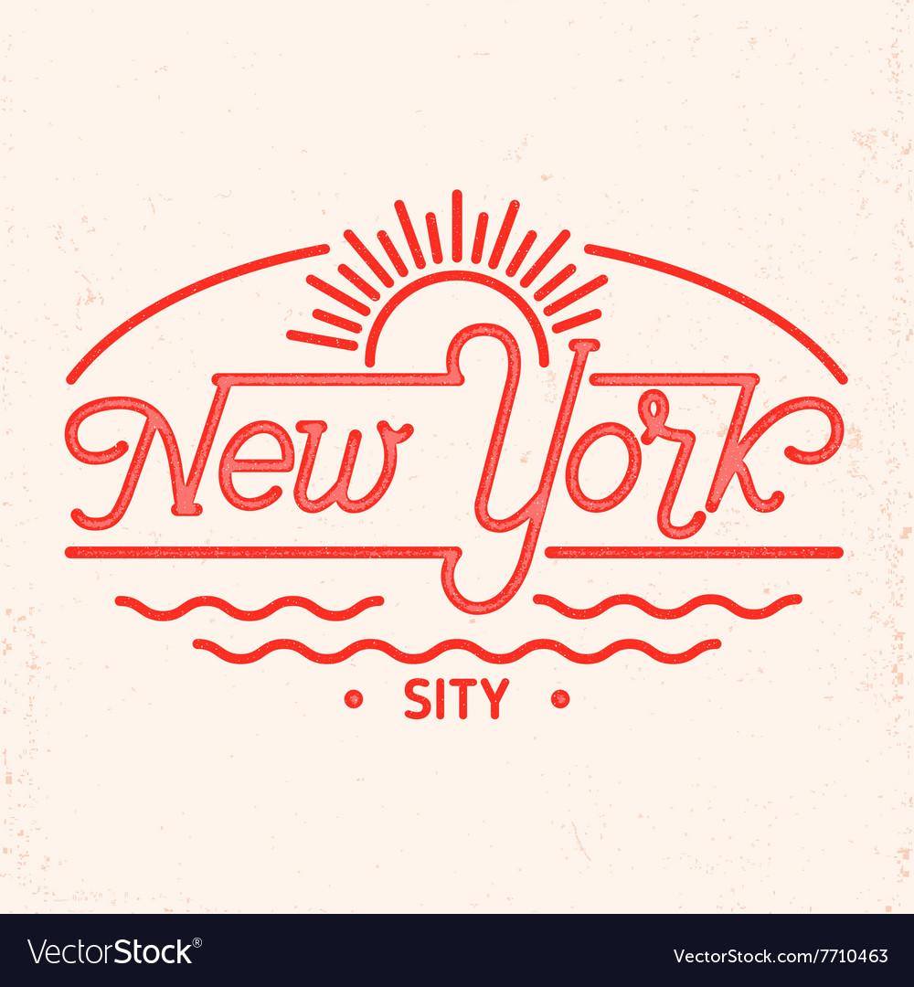 New York city line art design vector image