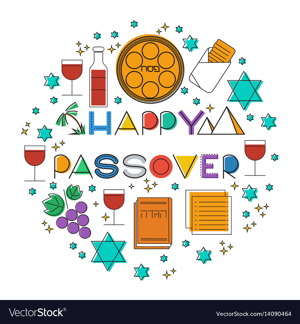 Happy passover greeting card royalty free vector image happy passover greeting card vector image m4hsunfo Image collections