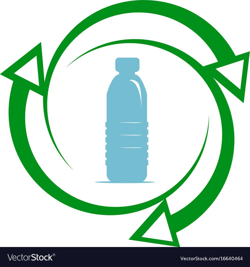 Recycle plastic icon vector image