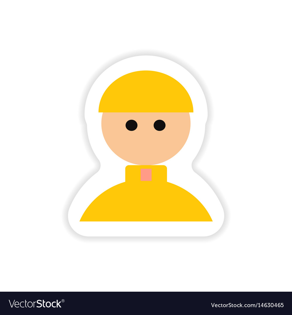 Paper sticker on white background catholic priest