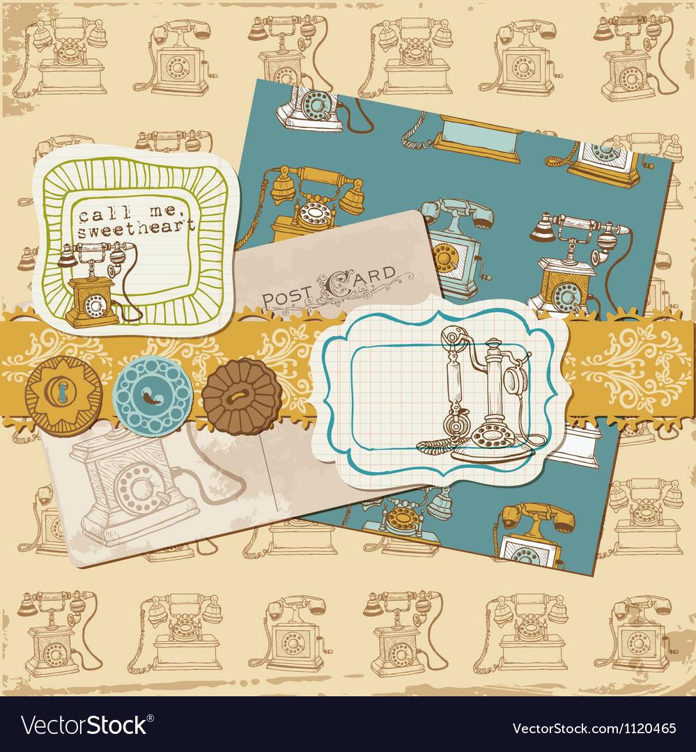 Design Elements - Vintage Telephones vector image