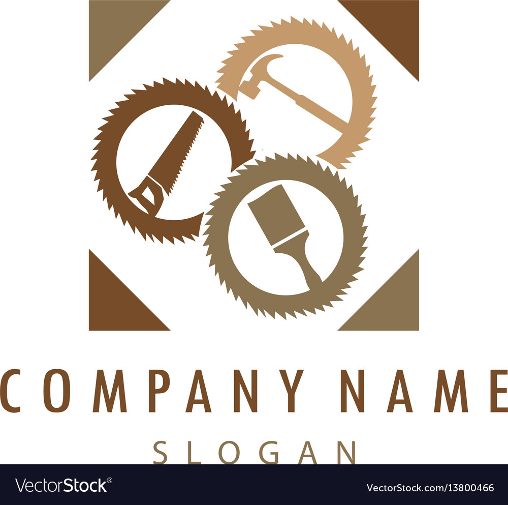 Carpentry logo 2 vector image
