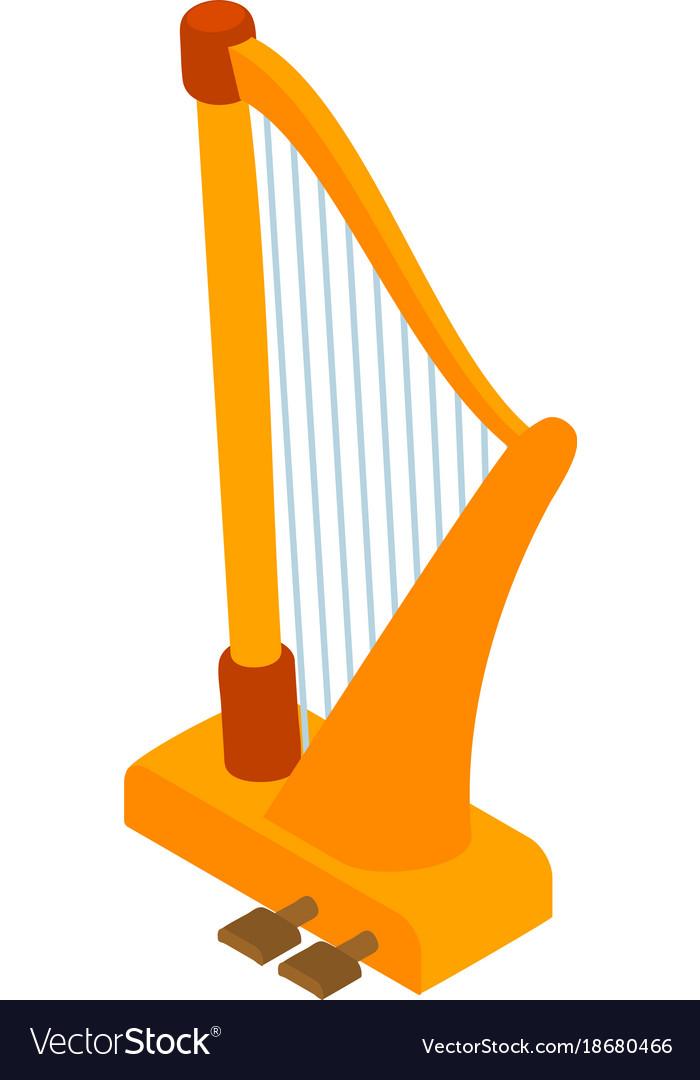 Harp icon isometric style vector image
