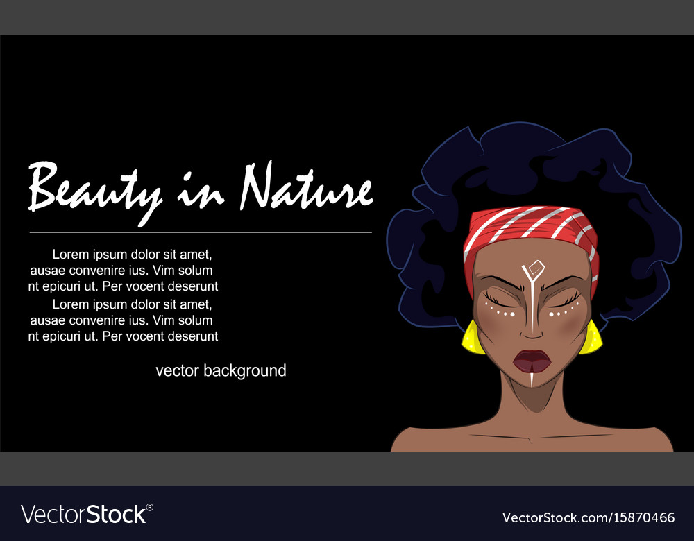 Portrait of beautiful african woman vector image