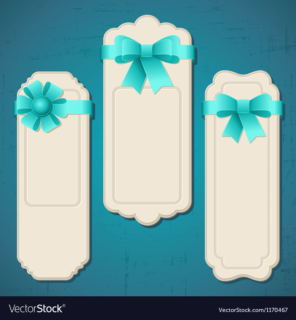 Collection of badges labels tags with bows and Vector Image