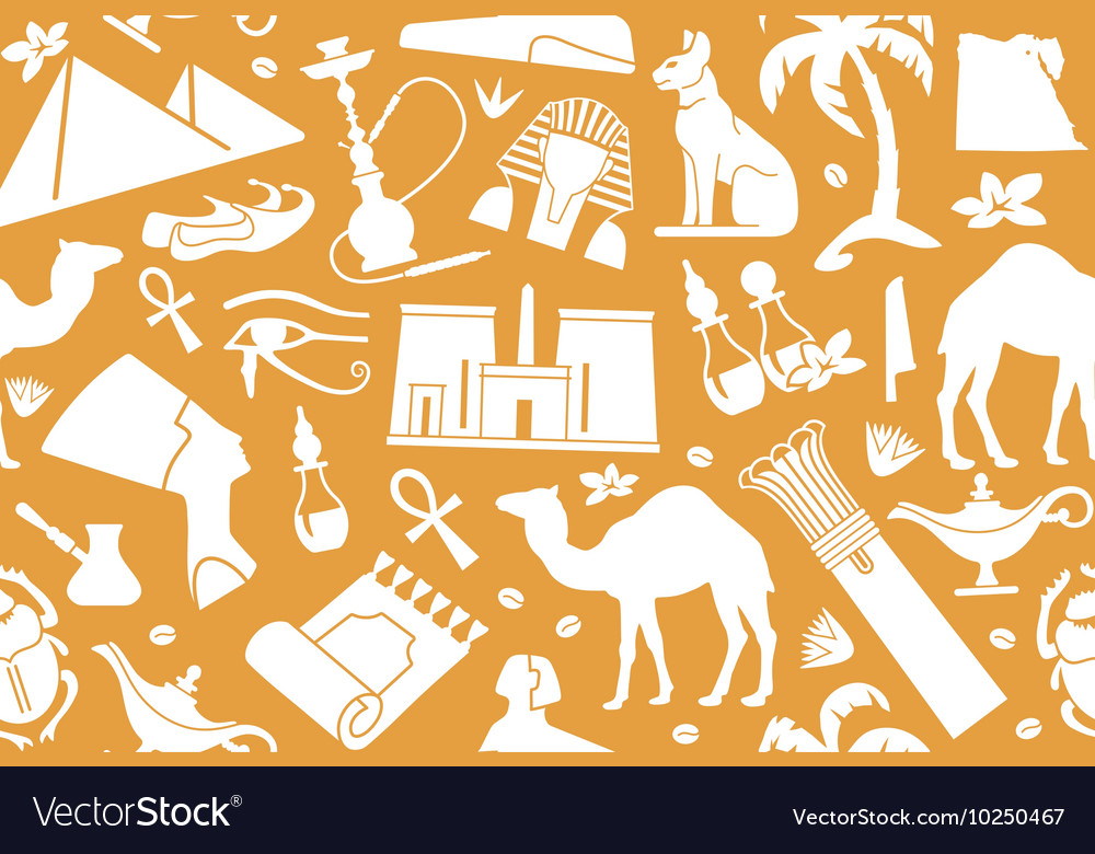 Egyptian seamless background vector image
