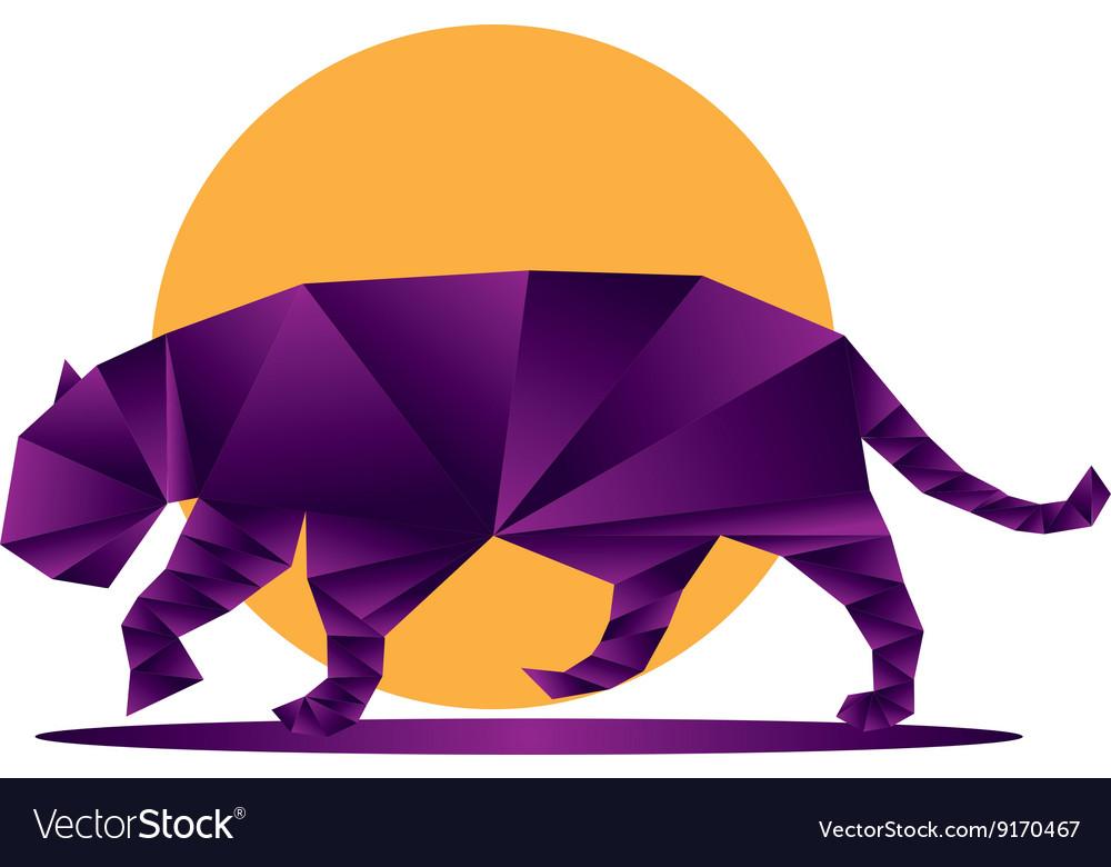 Origami jaguar3 vector image