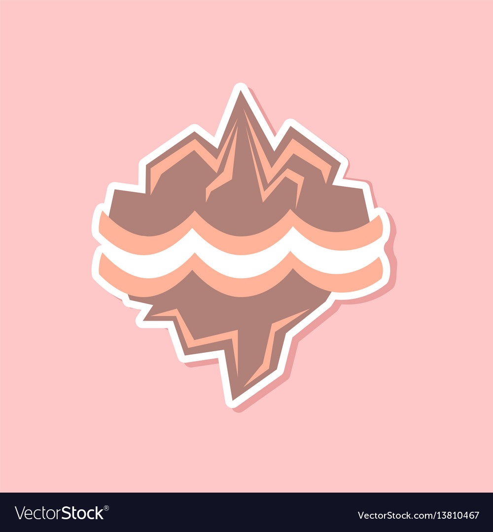 Paper sticker on stylish background of nature vector image