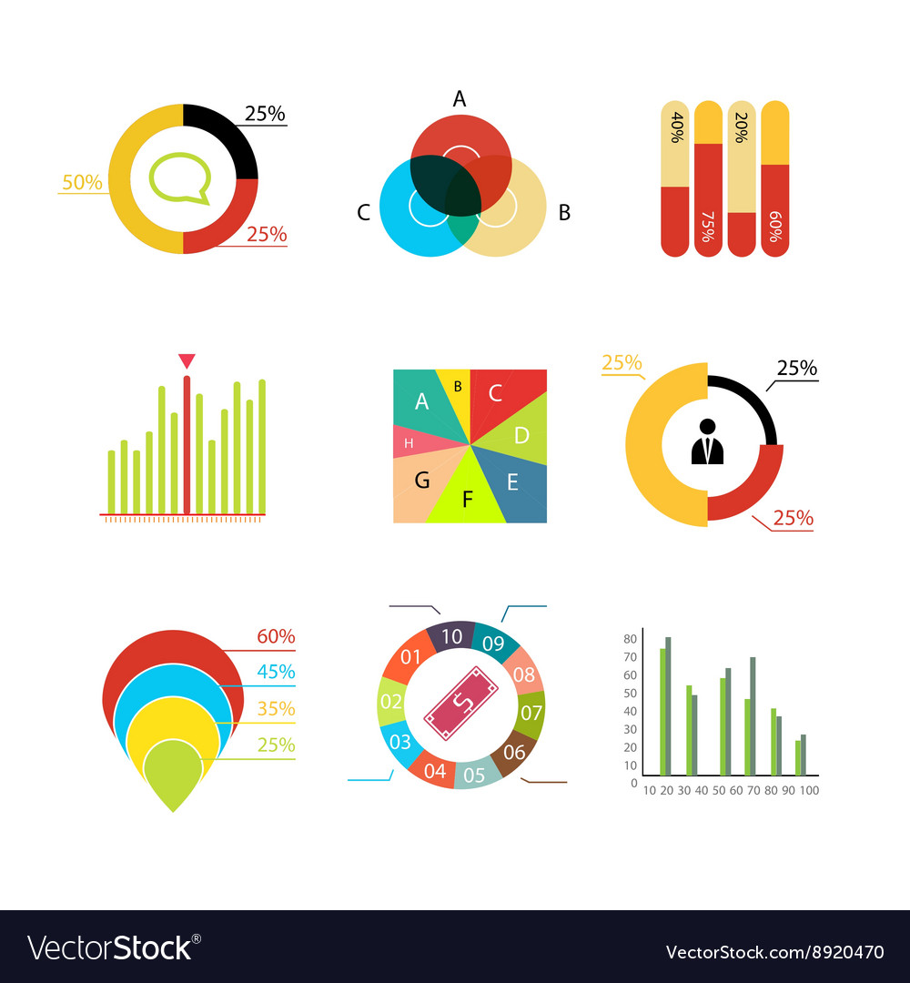 Infographic elements charts diagrams graphs vector image infographic elements charts diagrams graphs vector image pooptronica