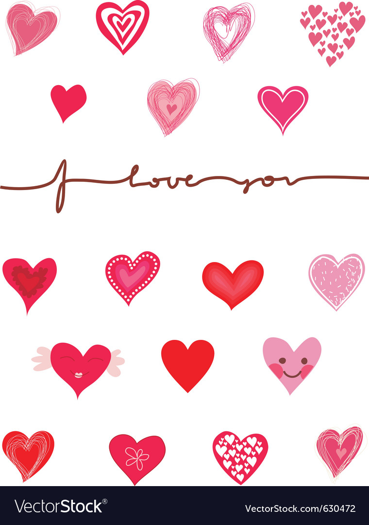 Love graphics vector image