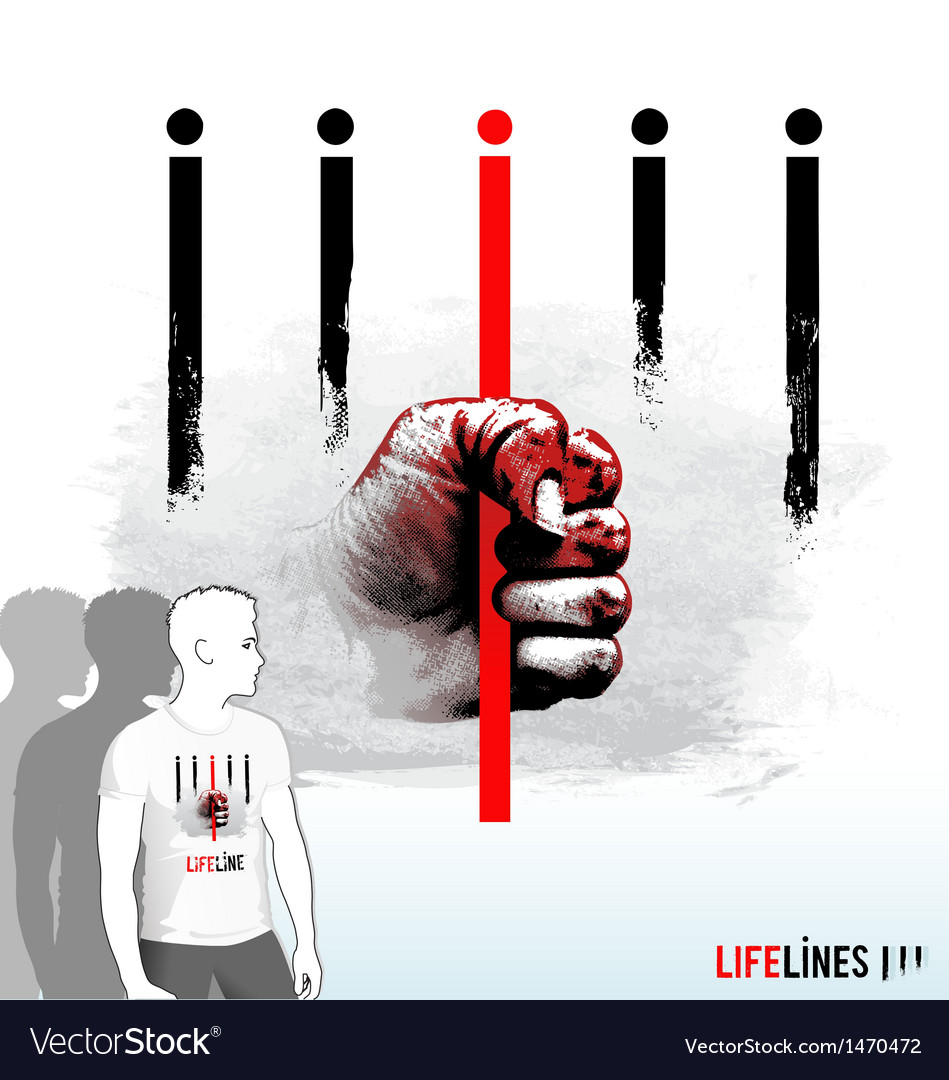 Lifelines vector image