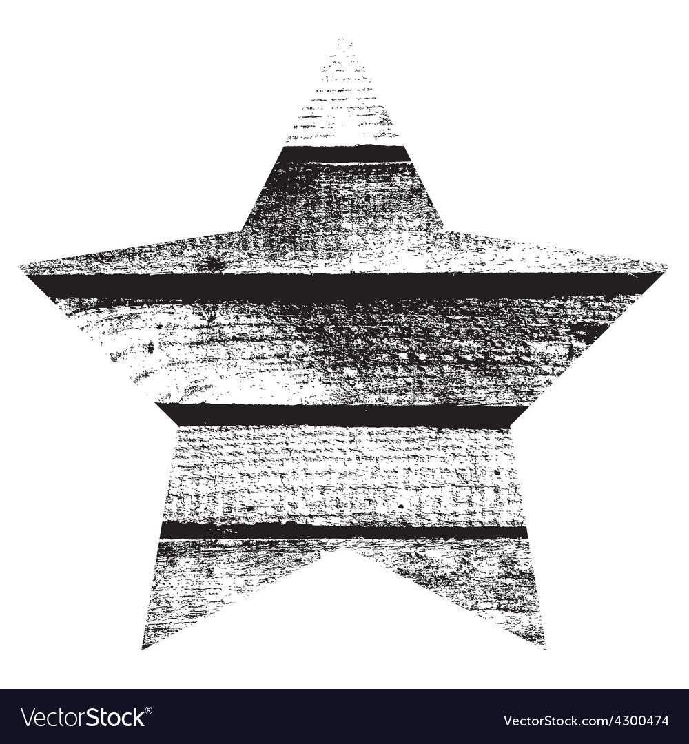Star Wood vector image