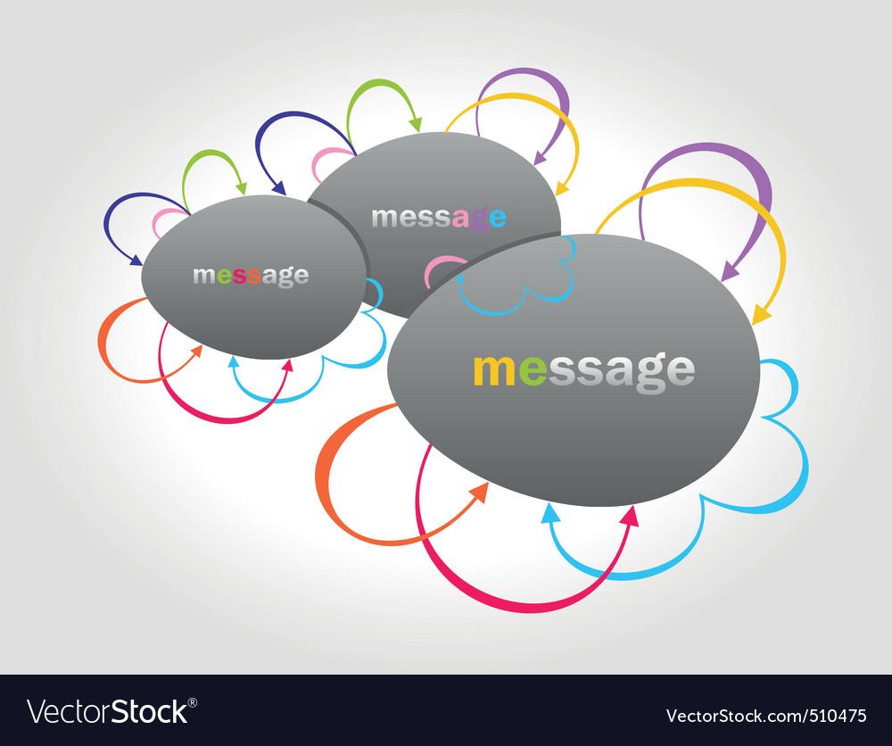 Vector colour arrows set speech bubbles vector image