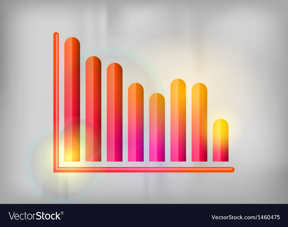 Business graph grey down vector image