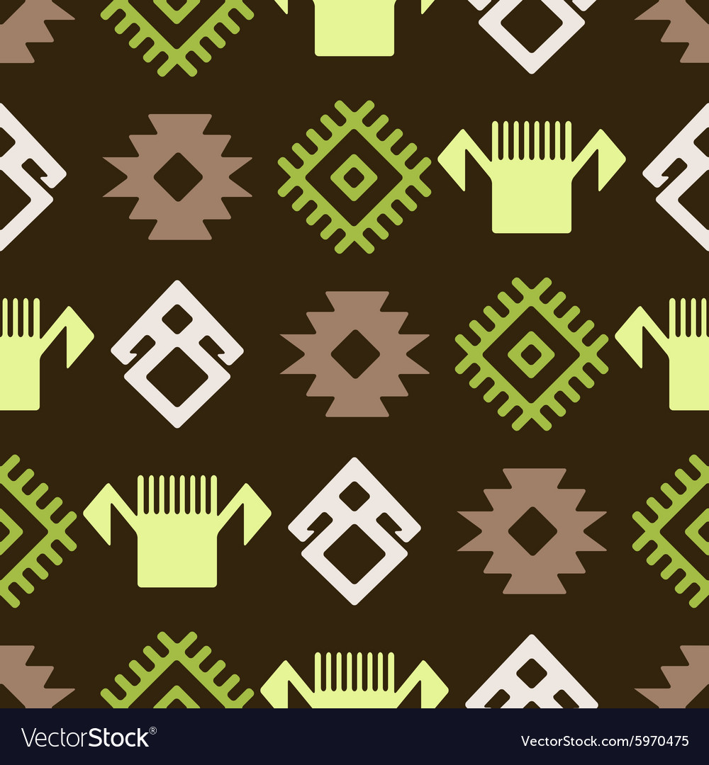 Seamless background with Persian ethnic symbols vector image