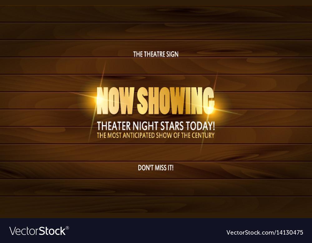 Theatre premiere poster design vector image