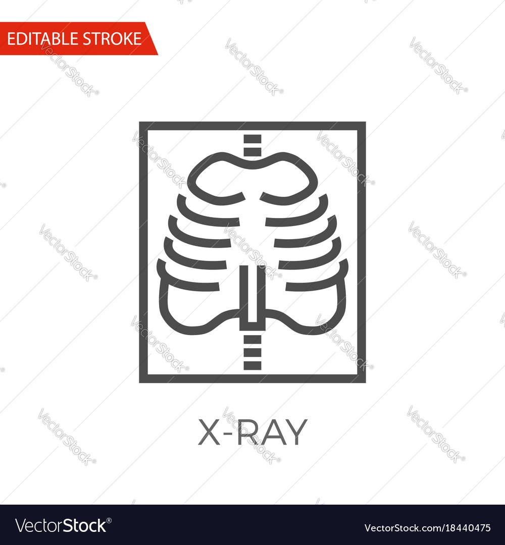 X-ray icon vector image