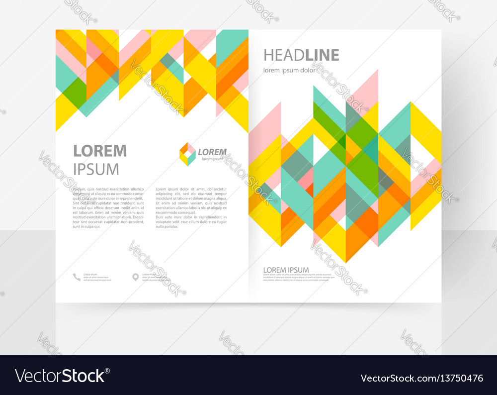Cover template vector image