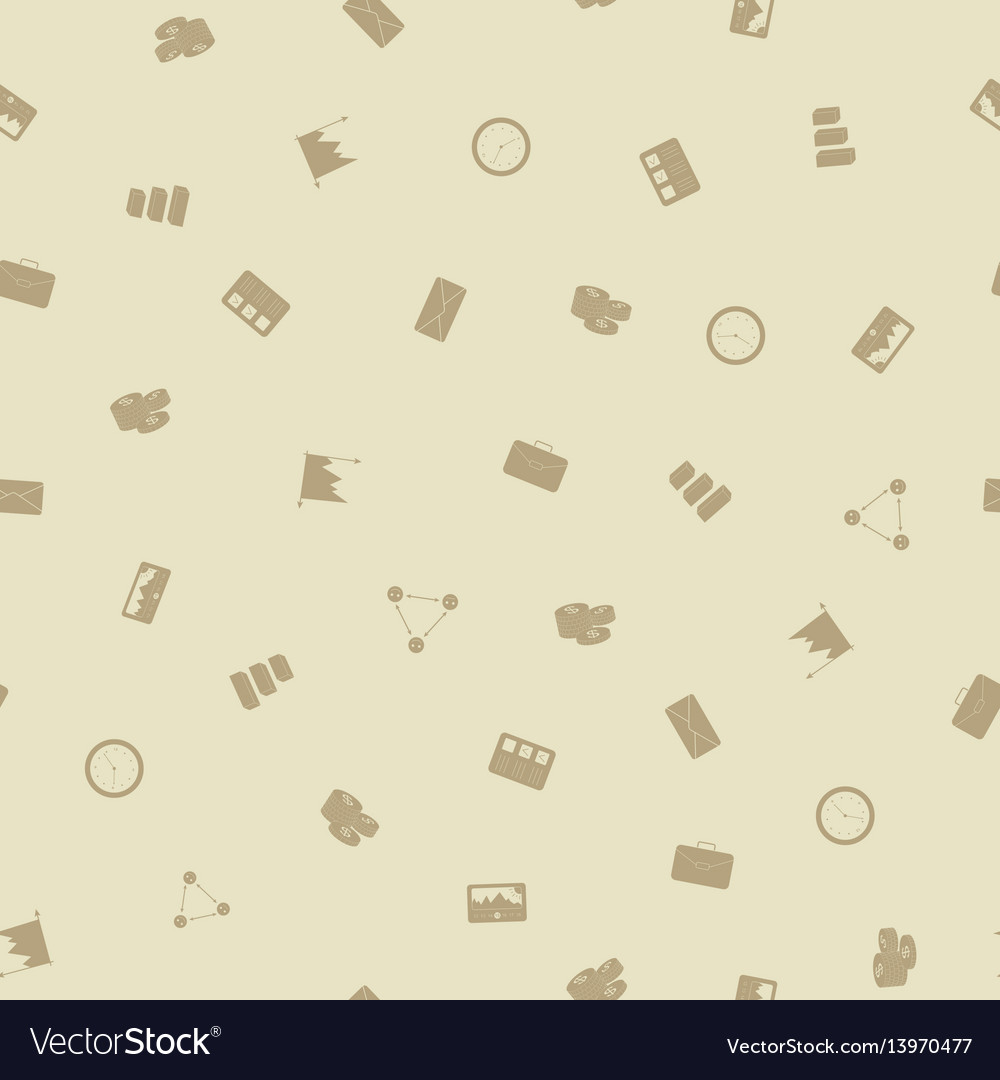 Office business seamless pattern background vector image