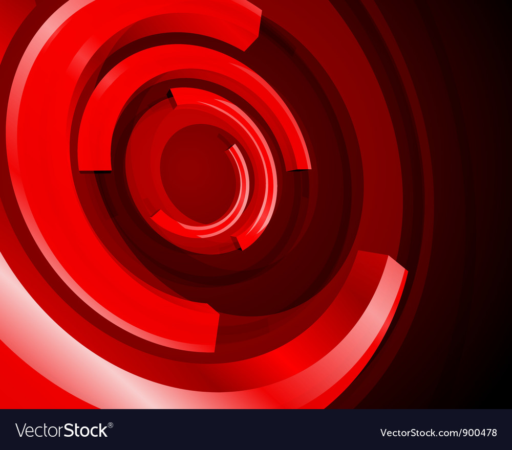 Abstract circle rings background vector image