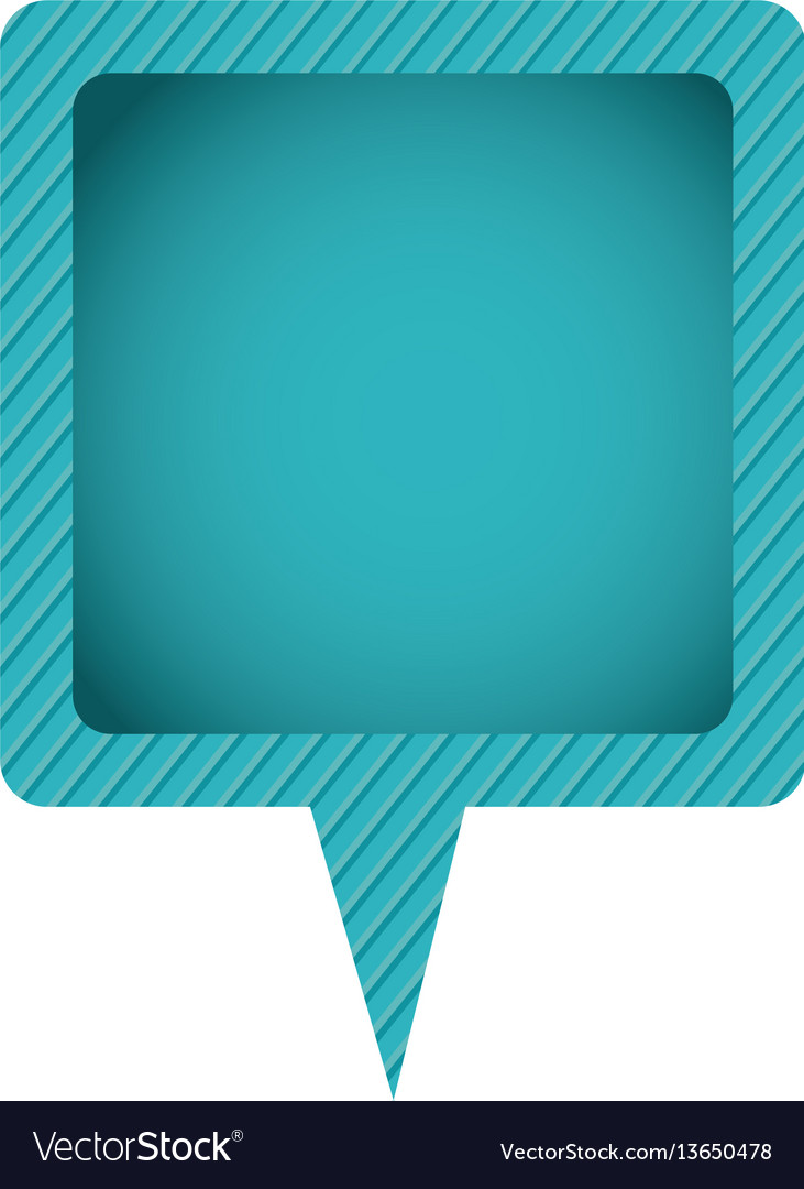 Blue chat bubble icon vector image