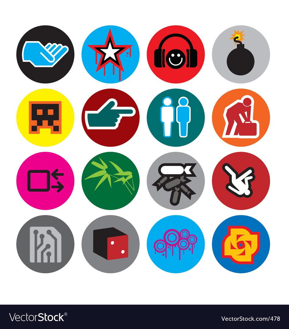 Logo candy vector image