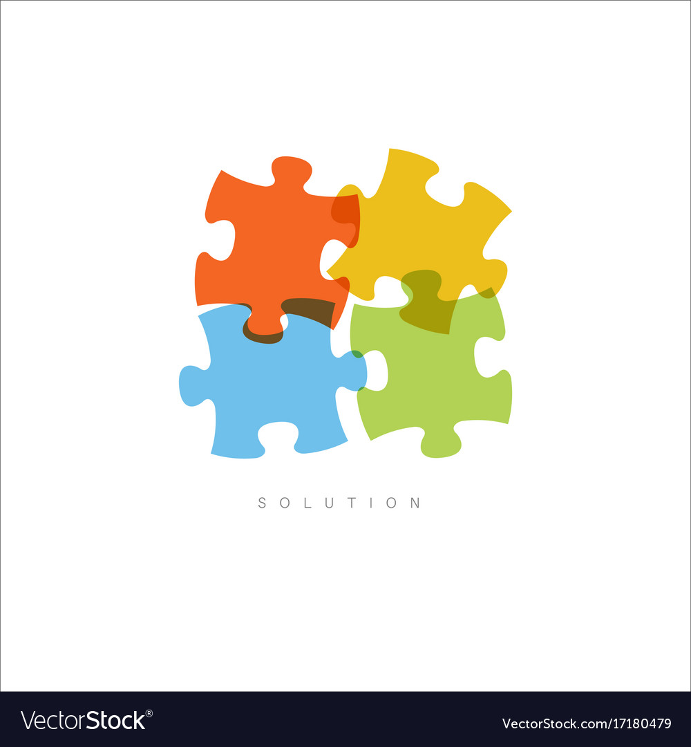 Solution - abstract puzzle concept vector image