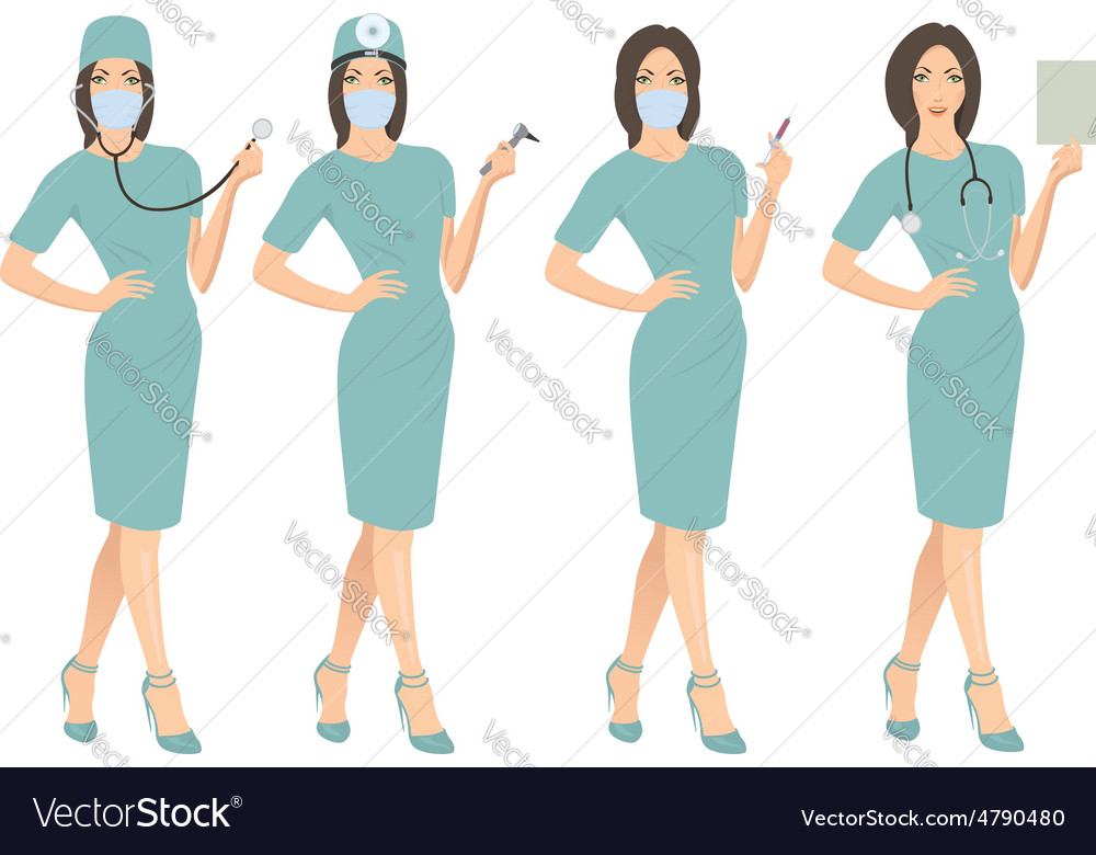 Doctors vector image