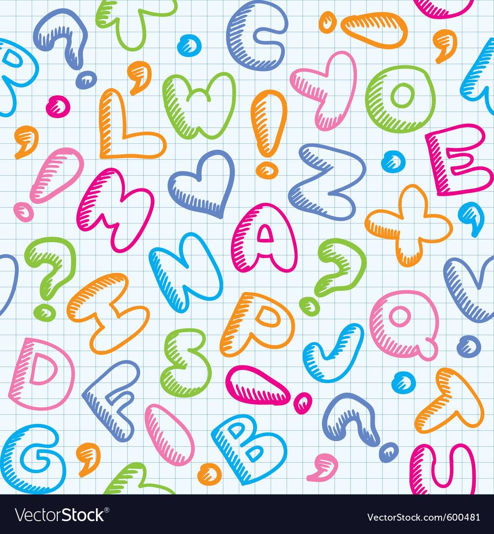 Alphabet pattern vector image