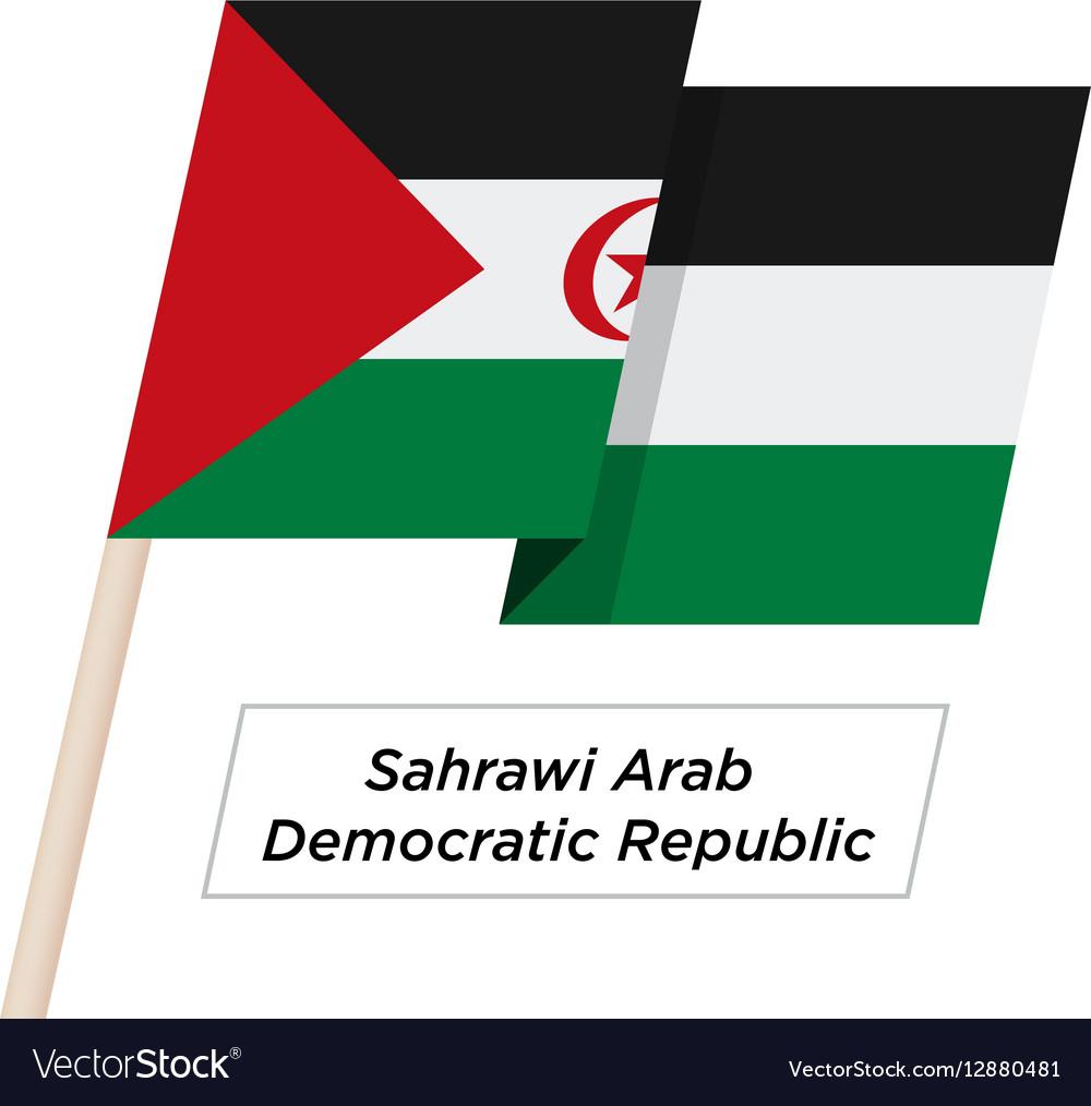 Sahrawi Arab Democratic Repablic Ribbon Waving vector image