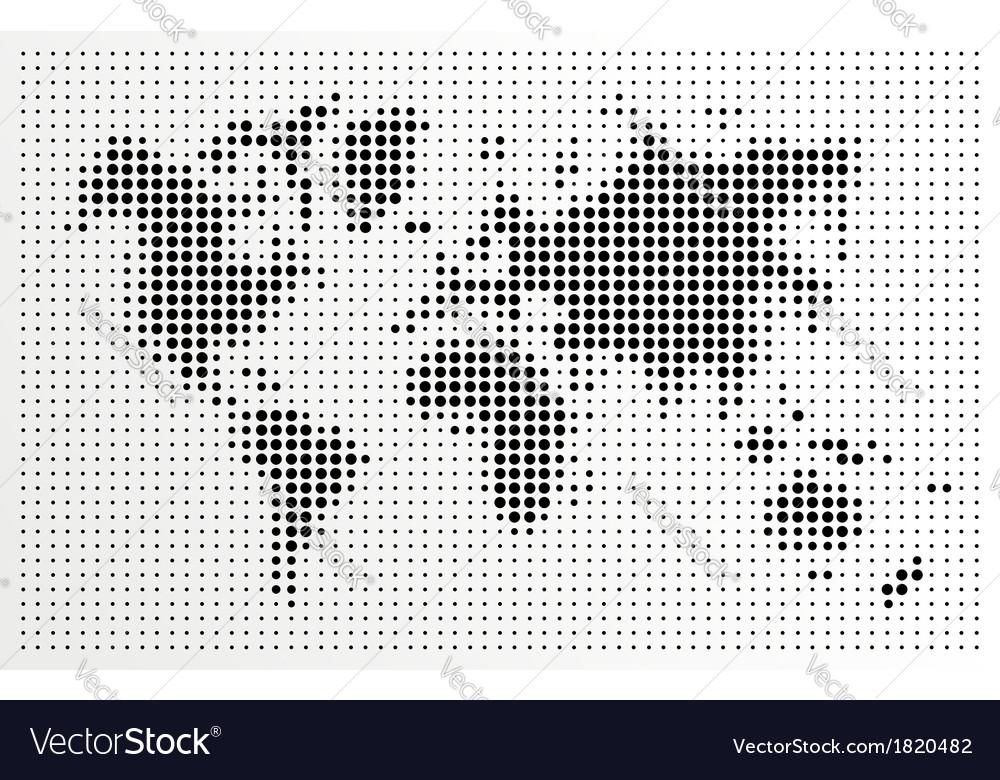 World map black dots atlas composition eps10 file vector image gumiabroncs Choice Image