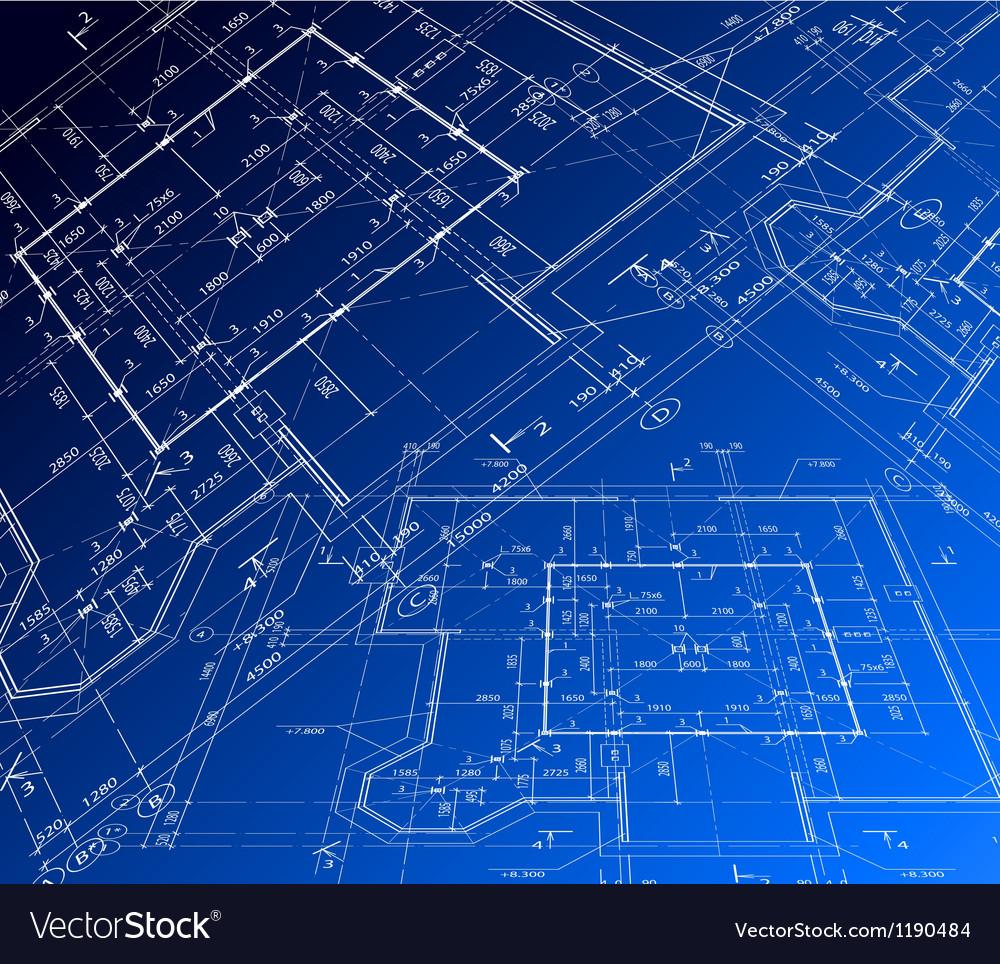 House plan blueprint vector image