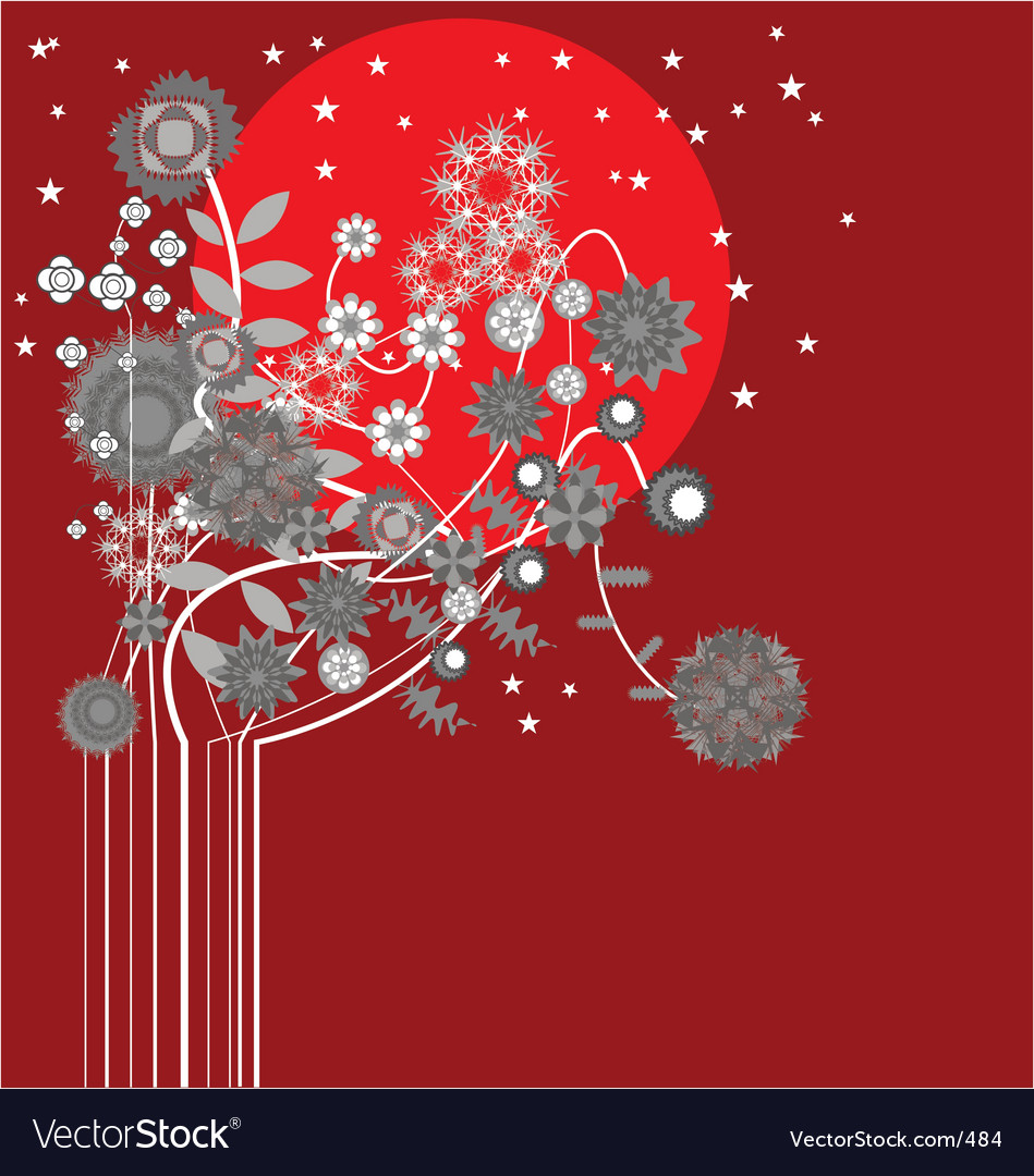 Midnight flowers vector image