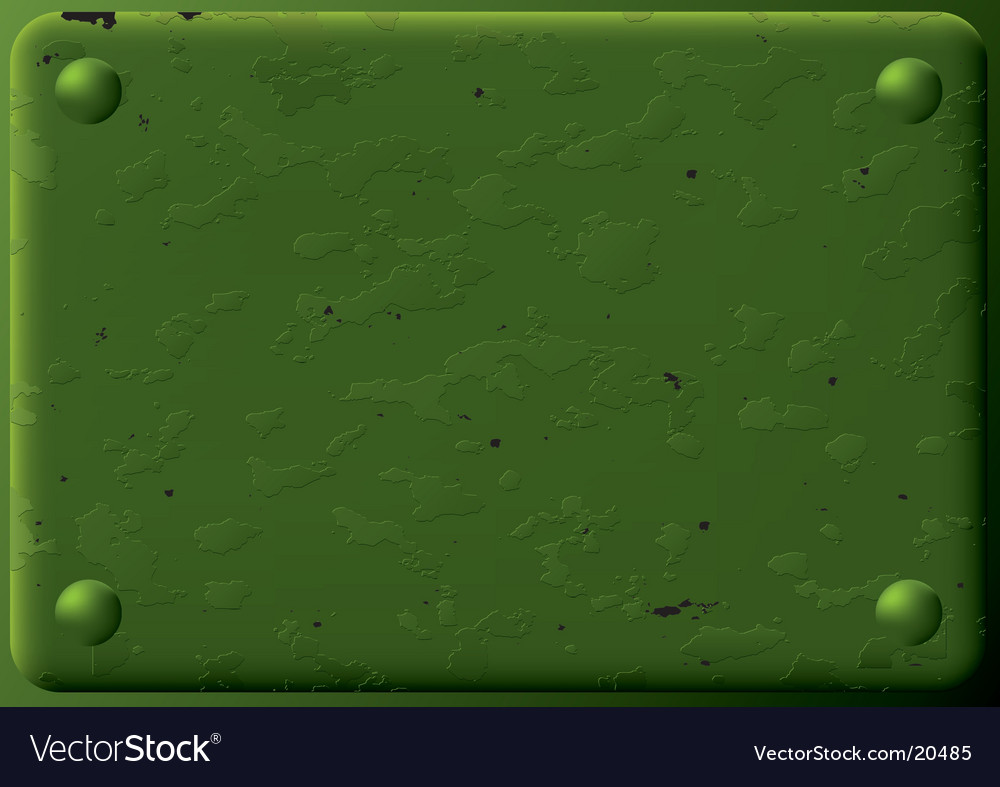Green armored plate vector image