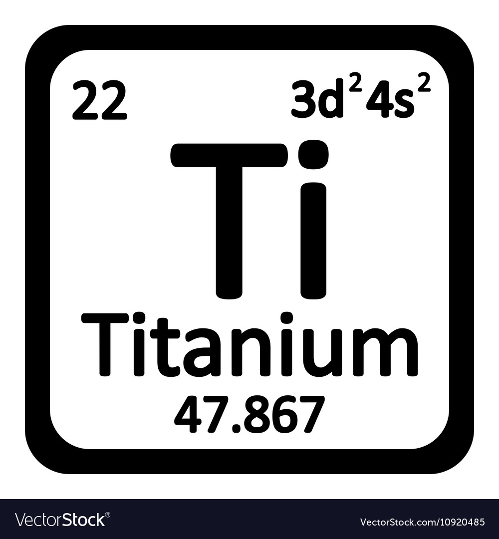 Wonderful Periodic Table Element Titanium Icon Vector Image