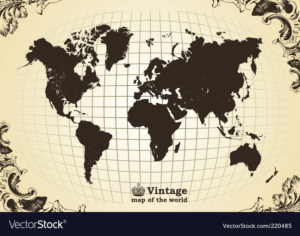 Vintage map vector image