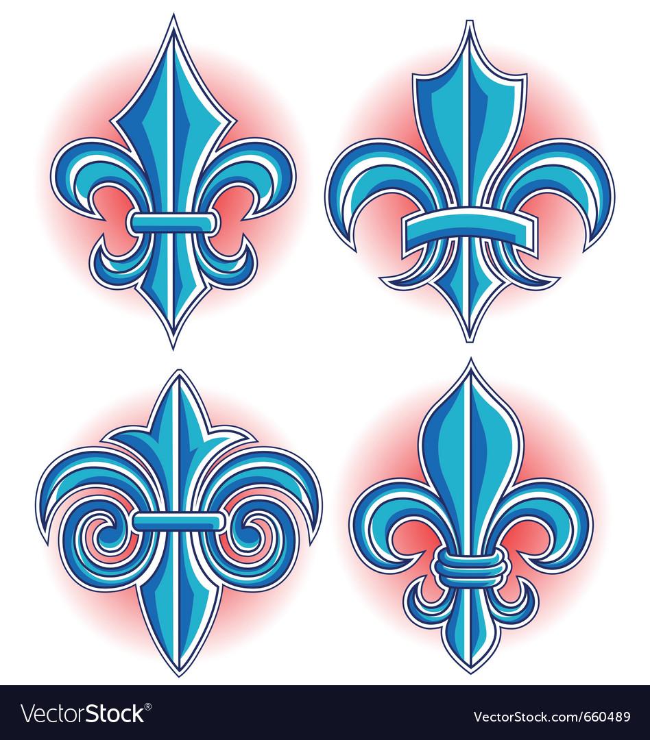 Fleur de lys symbol royalty free vector image vectorstock - Fleur de lys symbole ...