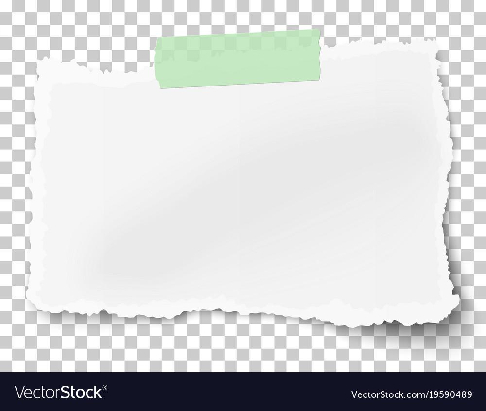 Rectangular square ragged paper fragment vector image