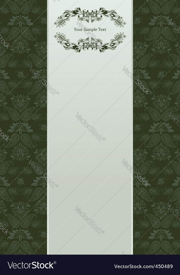 Vector floral background and frame vector image