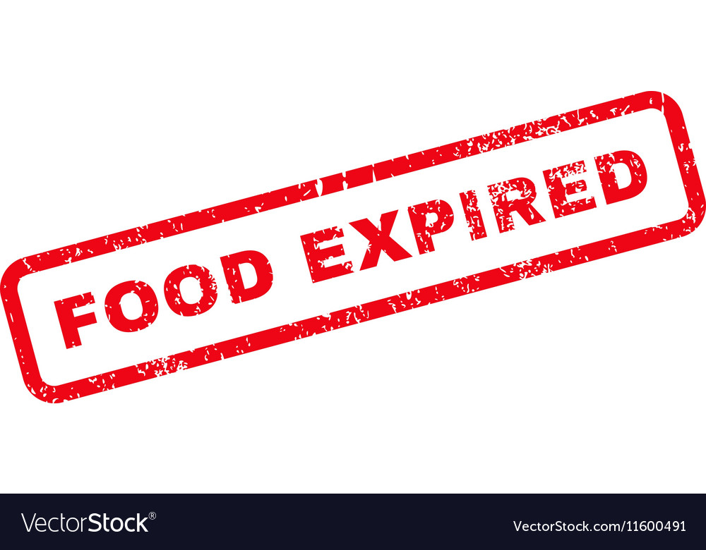 Food Expired Text Rubber Stamp vector image