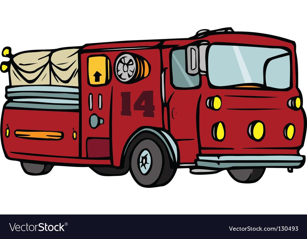 Firetruck vector image