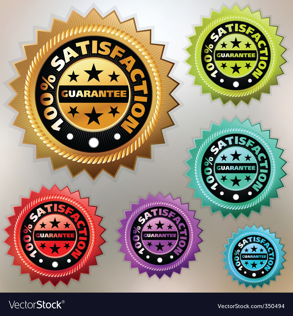 Satisfaction labels vector image