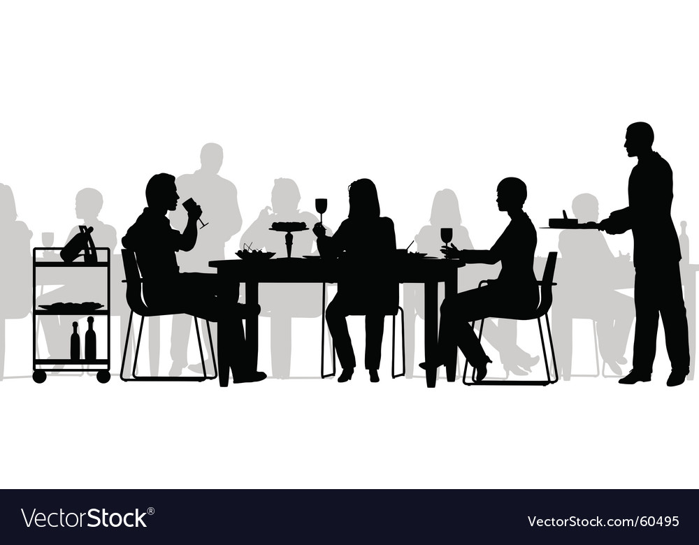 Restaurant scene vector image