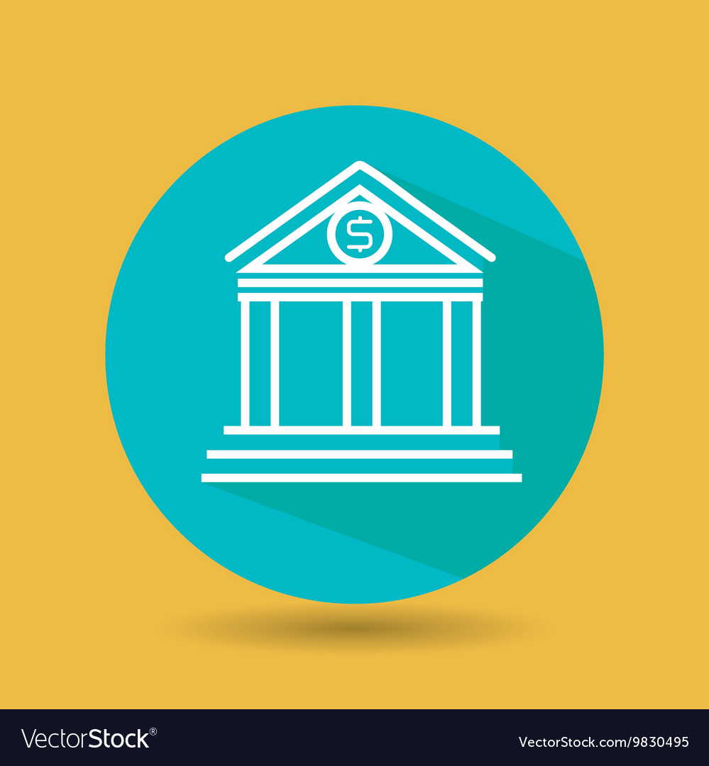Symbol of bank blue isolated icon design vector image biocorpaavc Gallery